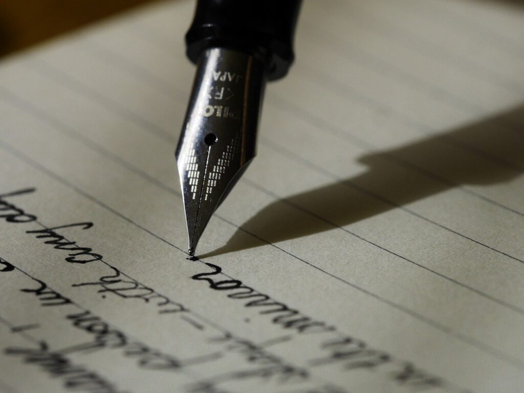 writing, write, fountain pen